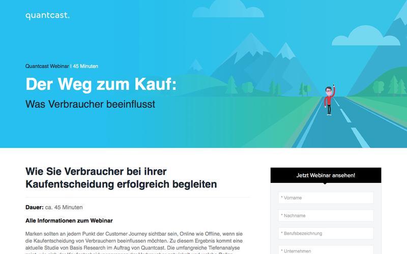 Quantcast Webinar | Der Weg zum Kauf: Was Verbraucher beeinflusst