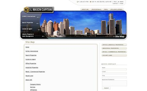 Screenshot of Site Map Page lmcap.com - L. Mason Capitani - captured Oct. 1, 2014