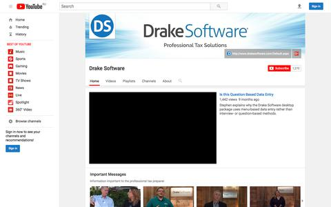 Drake Software  - YouTube