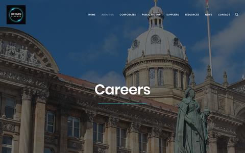 Screenshot of Jobs Page oxygen-finance.com - Careers at Oxygen Finance - captured Nov. 2, 2017
