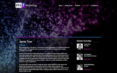 Screenshot of Team Page ph7marketing.com - PH7 Marketing | Our team - Profiles - captured Sept. 27, 2014