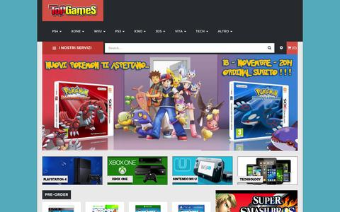 Screenshot of Home Page topgamesnapoli.com - Home | TopGameS - captured Oct. 9, 2014