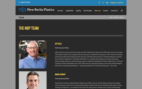 Screenshot of Team Page nbplastics.com - People | New Berlin Plastics - captured Feb. 14, 2016
