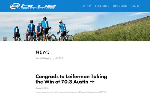 Screenshot of Press Page rideblue.com - Blue Competition Cycles-NEWS - captured Nov. 6, 2016