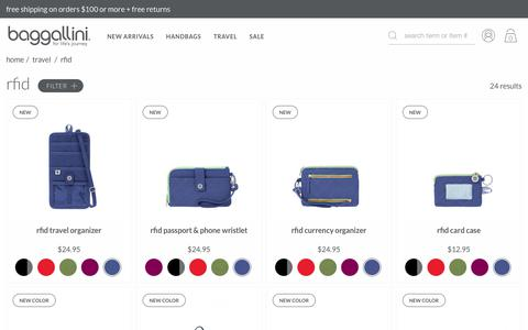RFID Bags, Purses, Wallets, & Travel Accessories | baggallini