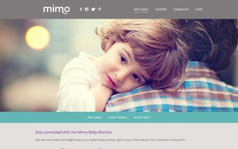 Screenshot of Home Page mimobaby.com - Mimo - The Smart Baby Monitor - captured Sept. 17, 2014