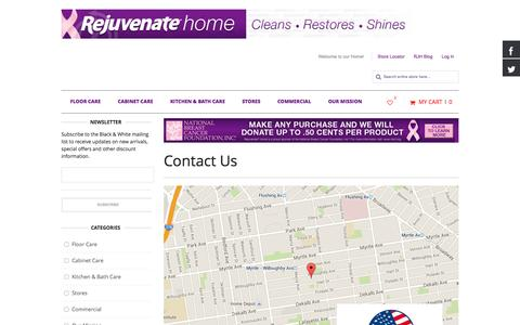 Screenshot of Privacy Page Contact Page rejuvenatehome.com - Contact Us - captured Oct. 25, 2014