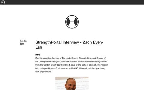 Screenshot of Blog strengthportal.com captured Oct. 7, 2014