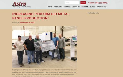 Screenshot of Blog astroeng.com - Blogs | Astro Engineering & Manufacturing Inc. - captured Oct. 4, 2018
