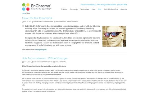 Screenshot of Blog enchroma.com - Blog | EnChroma - captured Sept. 16, 2014