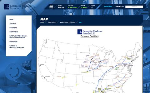 Screenshot of Maps & Directions Page enterpriseproducts.com - Map | Enterprise Products - captured July 20, 2018