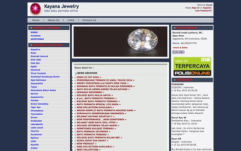 Screenshot of Press Page kayanajewelry.com - » Cincin Permata | batu permata | batu mulia | batu safir | batu akik | cincin batu - captured Feb. 8, 2016