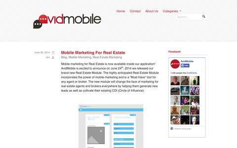 Screenshot of Blog avidmobile.com - AvidMobile Blog | Mobile Marketing Reseller Blog - captured Sept. 23, 2014
