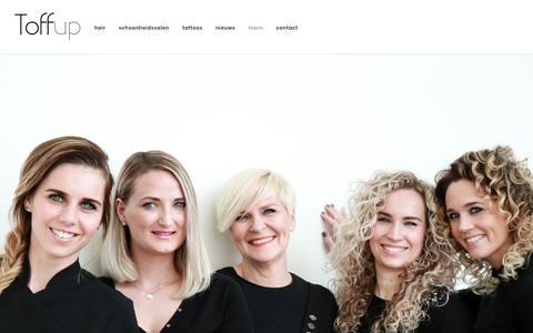 Screenshot of Team Page toffup.nl - Wij zijn Toffup De alles-in-een-salon in uithoorn die je blij maakt. - captured Oct. 19, 2018