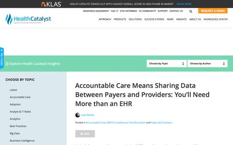 Sharing data between payers and providers: Beyond an EHR