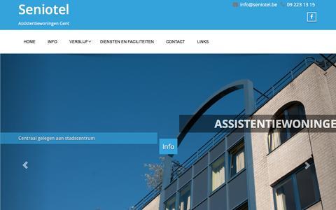 Screenshot of Home Page seniotel.be - Seniotel - Assistentiewoningen Gent - captured Dec. 3, 2016