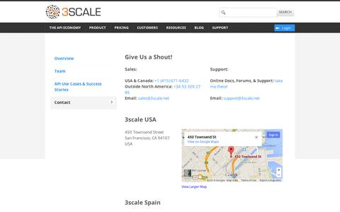 Contact - 3scale - The API Management Solution