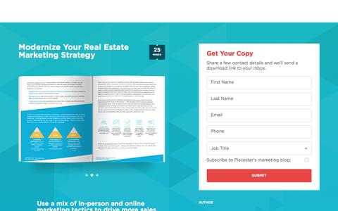 Screenshot of Landing Page placester.com - Modernize Your Real Estate Marketing Strategy | Placester - captured March 31, 2018