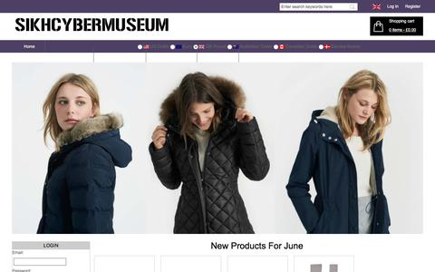 Screenshot of Home Page sikhcybermuseum.org.uk - Womens Cheap Fashion Clothes,Shoes,Accessories Online Sale | Beyond-Solutions.co.uk - captured June 11, 2018