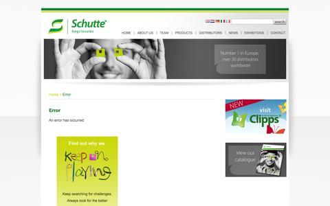 Screenshot of About Page schutte.nl - Schutte.nl - Welcome to Schutte bagclosures BV - captured Nov. 2, 2014