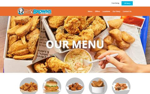 Screenshot of Menu Page marybrowns.com - Menu items – Mary Brown's Chicken & Taters - captured Oct. 7, 2019