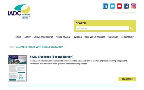 Screenshot of Terms Page iadc-dredging.com - Legal publication Archives - IADC Dredging - captured Nov. 24, 2019
