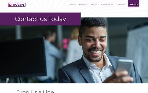 Screenshot of Contact Page prodege.com - Contact | Prodege : Prodege - captured Feb. 3, 2019