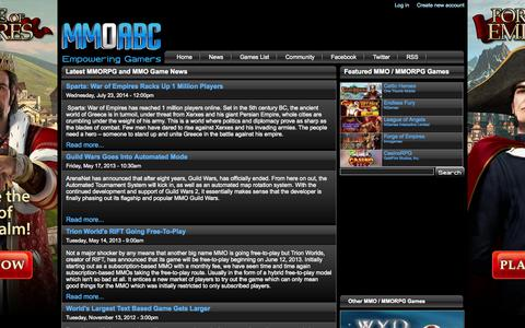 Screenshot of Press Page mmoabc.com - Latest MMORPG and MMO Game News - MMOABC - captured Oct. 3, 2014