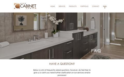 Screenshot of FAQ Page citycabinetcenter.com - FAQ - CITY CABINET CENTER - captured Nov. 4, 2018