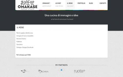 Screenshot of Menu Page omakasedesign.com - Omakase Design Studio - Il Menù - captured Nov. 16, 2018