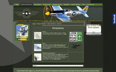 Screenshot of Maps & Directions Page cavanaughflightmuseum.com - Directions - captured Oct. 2, 2014