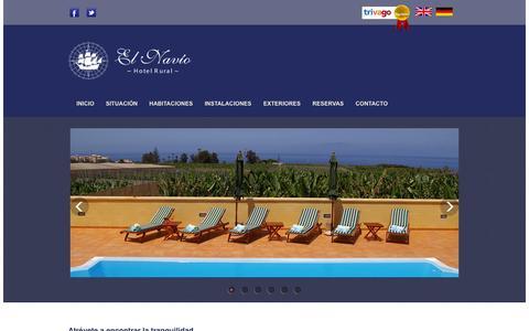 Screenshot of Home Page elnavio.es - Hotel Rural El Navío - captured Oct. 3, 2014
