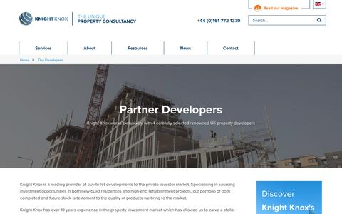 Screenshot of Developers Page knightknox.com - Property Developers -  Knight Knox - captured Oct. 17, 2017