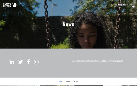 Screenshot of Press Page youngdevon.org - News | Young Devon - captured Dec. 10, 2018