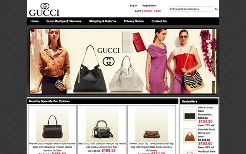 Screenshot of Home Page word-wide.us - Where to buy Gucci Bags? Cheap Gucci Bags sale store has Gucci Bags,Gucci Messenger Bag and not expensive for sale at Discount prices, fast delivery! - captured Oct. 7, 2014