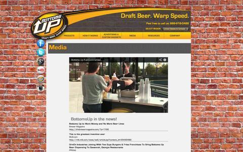 Screenshot of Press Page bottomsupbeer.com - Bottoms Up Beer -Media - captured Sept. 19, 2014