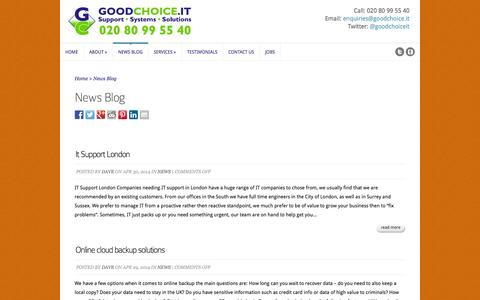 Screenshot of Press Page youritservices.co.uk - News Blog - GoodChoice IT Ltd - IT Support in Sutton, London and Surrey - captured Oct. 3, 2014