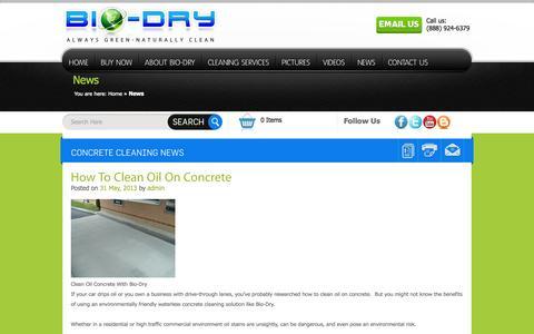 Screenshot of Press Page bio-dry.com - News Bio-Dry - captured Oct. 5, 2014