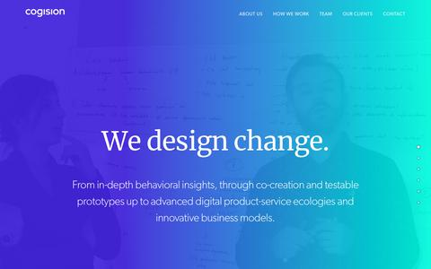 Screenshot of Home Page cogision.com - Cogision – We design a change. - captured July 19, 2018