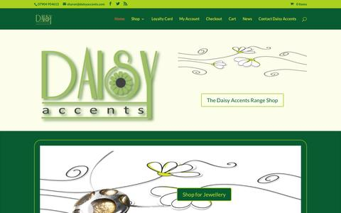 Screenshot of Home Page daisyaccents.com - Home - Daisy Accents Online Shopping - captured July 8, 2016