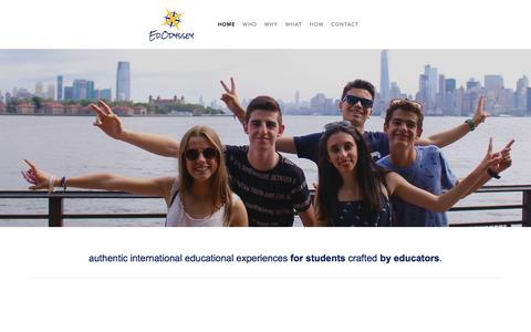 Screenshot of Home Page edodyssey.com - EdOdyssey - captured May 14, 2017