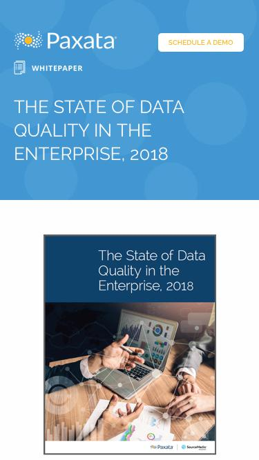 The State Of Data Quality In The Enterprise, 2018