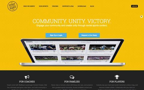 Screenshot of Home Page stateasy.com - Home - StatEasy - captured Sept. 17, 2014