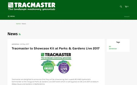 Screenshot of Press Page tracmaster.co.uk - News – Tracmaster Ltd - captured Oct. 26, 2017