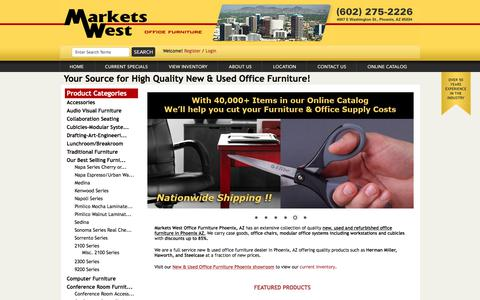 Screenshot of Home Page marketswest.com - Markets West Office Furniture Phoenix, AZ - New Used Refurbished Office Furniture, Cubicles Modular Office Furniture - Phoenix AZ - Markets West Office Furniture Phoenix AZ - Markets West Office Furniture Phoenix AZ - captured Oct. 17, 2017