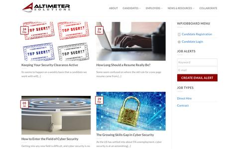 Screenshot of Blog Press Page altimetersolutions.com - Blog - Altimeter Solutions - captured May 29, 2017