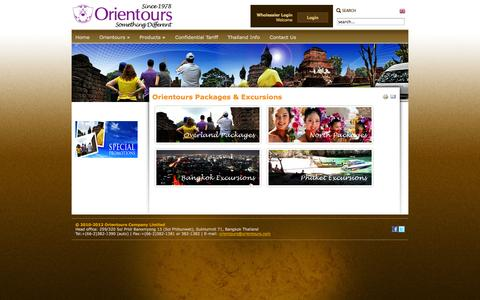 Screenshot of Products Page orientours.com - Orientours Packages & Excursions - captured Oct. 26, 2014