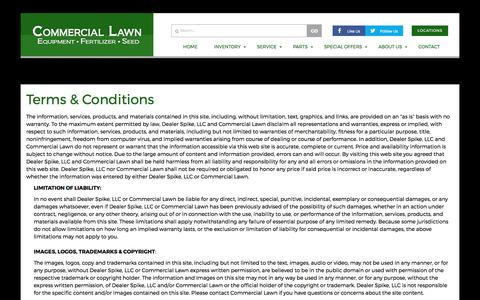 Screenshot of Terms Page commerciallawnequipment.com - Terms | Commercial Lawn | Nashville Tennessee - captured May 20, 2017