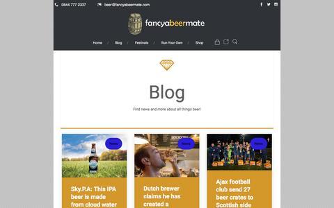 Screenshot of Blog fancyabeermate.com - Blog – Fancyabeermate.com - captured Nov. 25, 2016