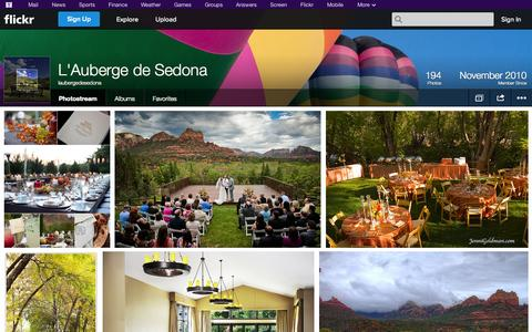 Screenshot of Flickr Page flickr.com - Flickr: laubergedesedona's Photostream - captured Oct. 22, 2014